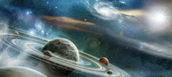Фотообои Синий космос