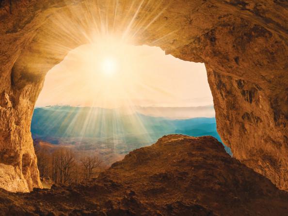 Фотообои Вид с пещеры на море