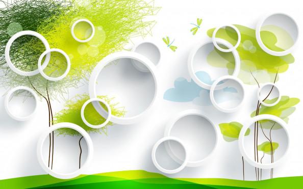 Фотообои круги и деревья