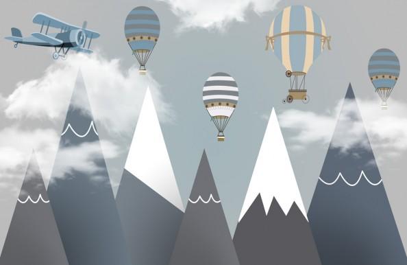 Фотообои Горы с шарами
